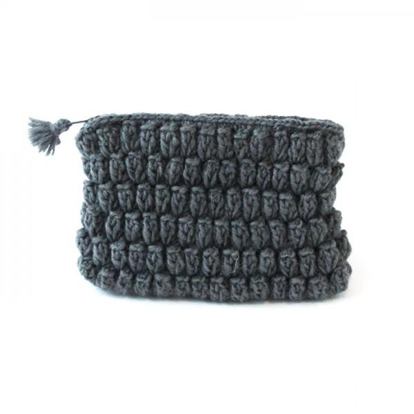 Crochet pouch Gray