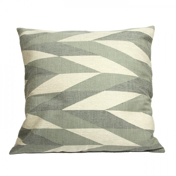 Cushion Zigzag blue-gray