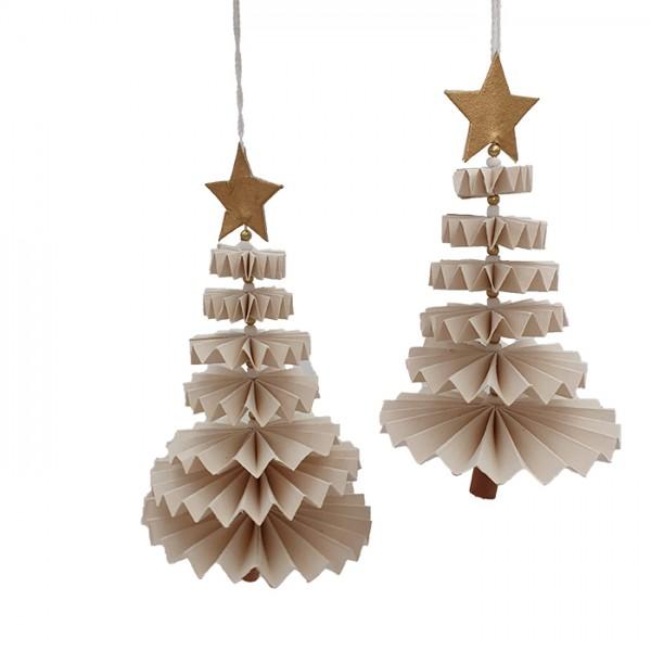 Tree dancing ornament bl/wh/nat set/2