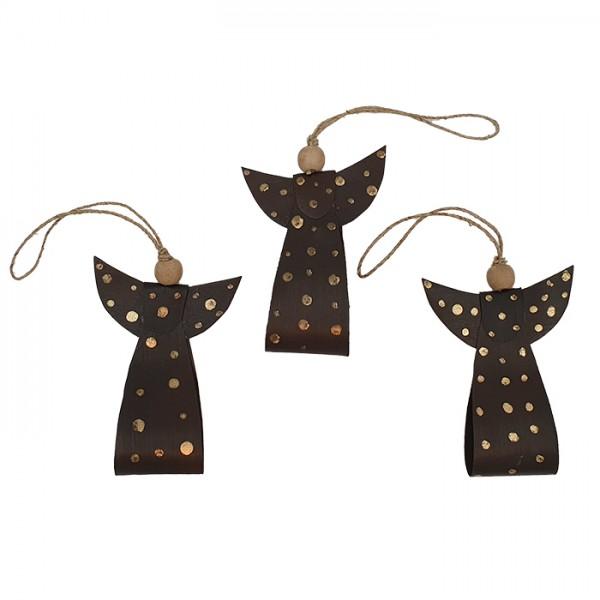 Angel ornament dark/gold AN pouch
