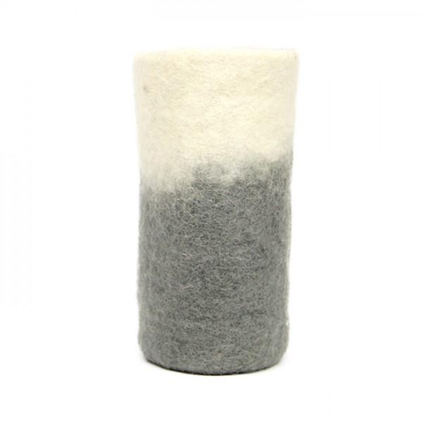 Vase felt 2-tone Gray