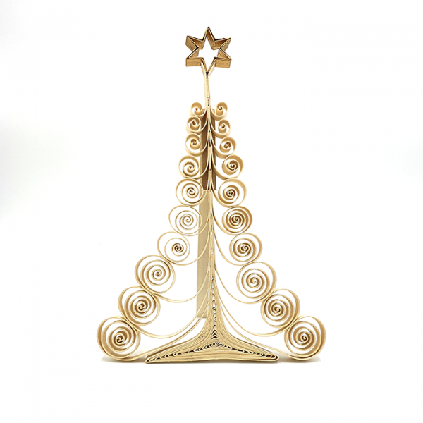 X-mas tree Curly standing 21cm in box
