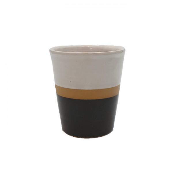 Mug 3-tone white-natural-black