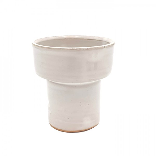 Cup-candleholder-pot Tall white
