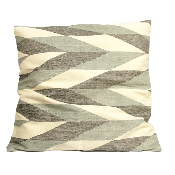 Cushion Zigzag white-gray