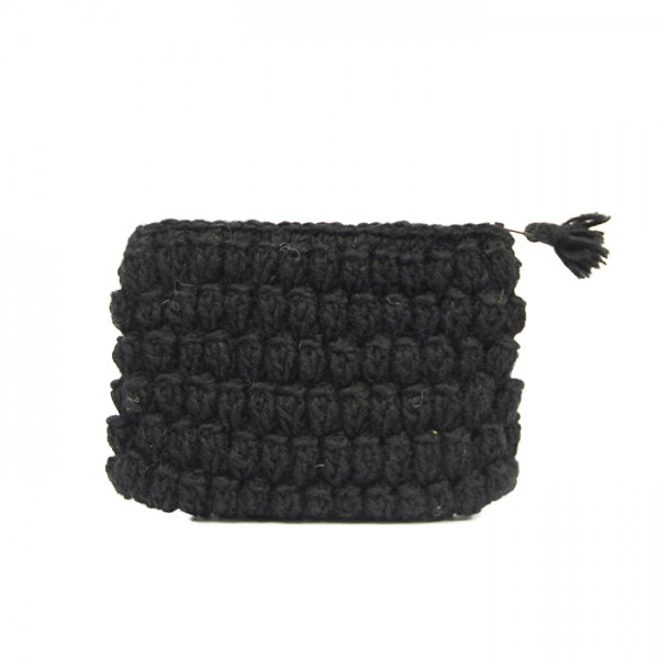 Crochet pouch black