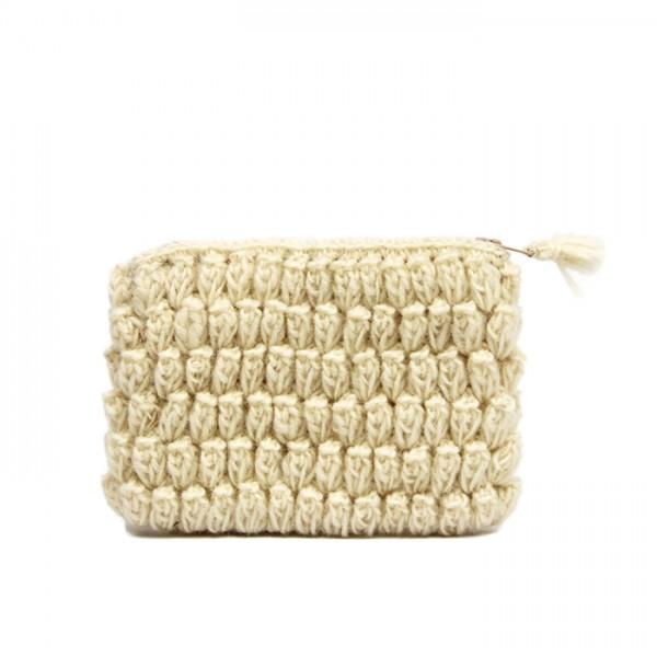 Crochet pouch White