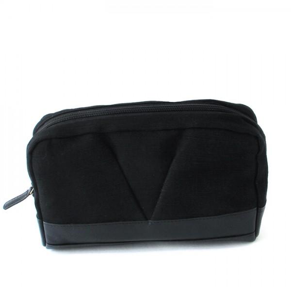 Wash bag Split L w/leather