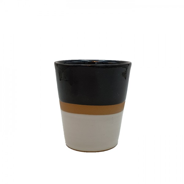 Mug 3-tone black-natural-white