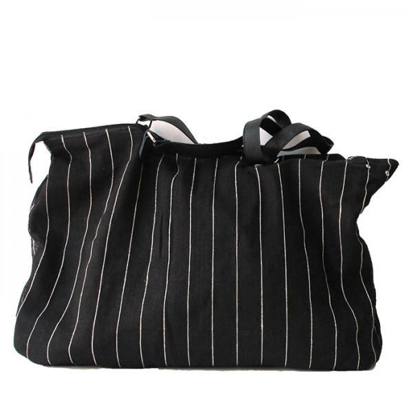 Big bag jute L black