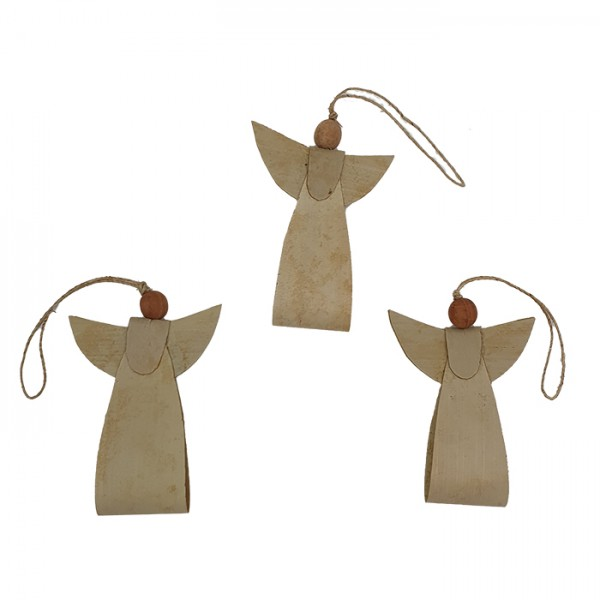 Angel ornament natural AN pouch set/3
